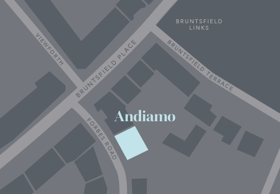 Map to Andiamo Fashion, Bruntsfield, Edinburgh