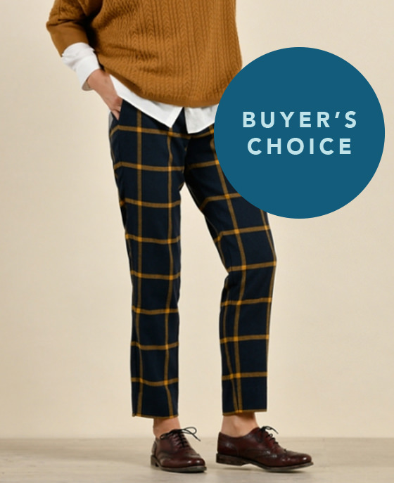 <strong>Mat de Misaine</strong><br>Yellow checked trousers<br>£145